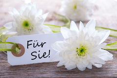 Label with Fuer Sie Royalty Free Stock Image