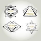 Label géométrique de vintage d'art déco Photo stock