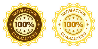 Label 100 garanti par satisfaction Images libres de droits