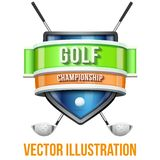 Label for golf sport competition. Bright premium Royalty Free Stock Images