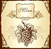 Label with grapes Royalty Free Stock Photography