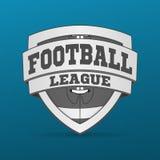 Label graphique de football américain Photographie stock