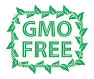 Label gratuit d'OGM Photographie stock libre de droits