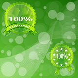 Label Green ECO. Stock Photography