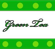 Label. Green and white label for a practical use in a kitchen vector illustration