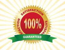 Label - Guarantee 100%. Stock Photo