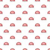 Label half price pattern, cartoon style Stock Image