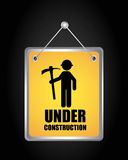 Label hanging under construction  isolated icon design. Label hanging under construction isolated icon design, vector illustration  graphic Royalty Free Stock Images