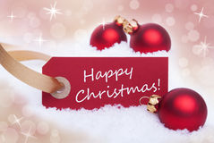 Label With Happy Christmas Royalty Free Stock Image