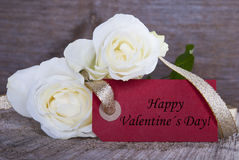 Label with Happy Valentines Day Royalty Free Stock Photos