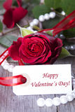 Label with Happy Valentines Day Stock Photography