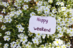 A label with Happy Weekend Royalty Free Stock Photo