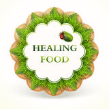 Label with healing food Royalty Free Stock Image