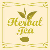 Label for herbal tea Stock Image