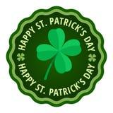 Label heureux de carte de voeux de jour de Patricks de saint Image libre de droits