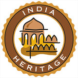 Label of historic India heritage Stock Images