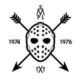 Label with hockey mask Royalty Free Stock Photo