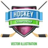 Label for hockey sport competition. Bright premium Stock Images