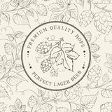 Label and hop. Label and hop on white. Vector illustration Royalty Free Stock Photography