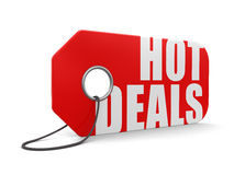 Label hot deals (clipping path included) Royalty Free Stock Image
