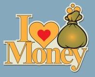 Label I love money Stock Photo
