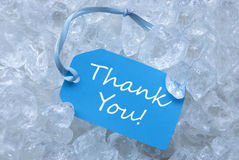 Label On Ice With Thank You Royalty Free Stock Photos