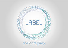 Label icon for the company or organization. Vector illustration Royalty Free Stock Photos