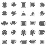 Label icons on white background Royalty Free Stock Photo