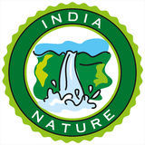 Label of india nature,enviornmental concept Stock Photos