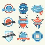 Label-insigne de vintage illustration de vecteur