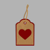 The label isolated on a gray background with heart. The label isolated on a gray background. Vector illustration Stock Photos
