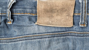 Label on jean pants Royalty Free Stock Images