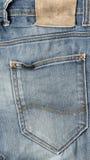 Label on jean pants Stock Photos