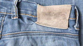 Label on jean pants Stock Photo