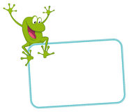 Label - joyful frog Stock Images