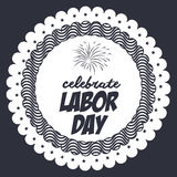 Label of labor day design Stock Photography