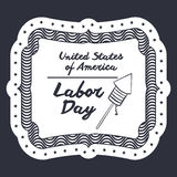 Label of labor day design Royalty Free Stock Photo