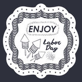 Label of labor day design Stock Photos