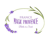 Label with lavender Stock Photography