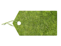 Label with lawn Royalty Free Stock Images
