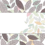 Label with leaves Royalty Free Stock Photo