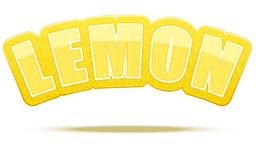 Label for lemon juice or fruits. Bright premium Royalty Free Stock Image