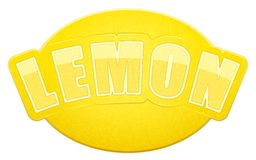 Label for lemon juice or fruits. Bright premium Stock Photo