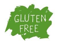 Label libre de nourriture de gluten et insignes de haute qualité de produit Bio Ecohealthy organique, 100 bio et icône de produit illustration stock