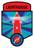 Label with lighthouse Royalty Free Stock Images
