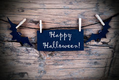 Label on Line with Happy Halloween Stock Images