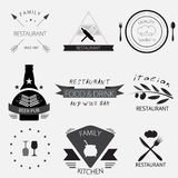 Label, logo or menu design for restaurant or bakery set Stock Photography