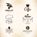 Label, logo set for restaurant menu design Stock Image