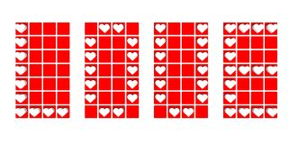 Label of love background with red hearts Stock Photo