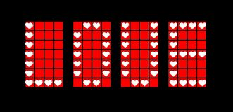 Label of love background with red hearts Royalty Free Stock Photography